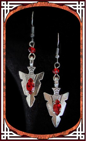 "Red ""Amazonia"" Earrings"
