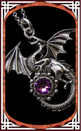 "Collier ""Dragon"" Amethyste"