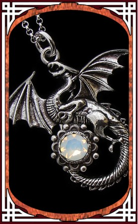 "Collier ""Dragon"" Opale"