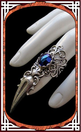 Claw Ring Night Blue