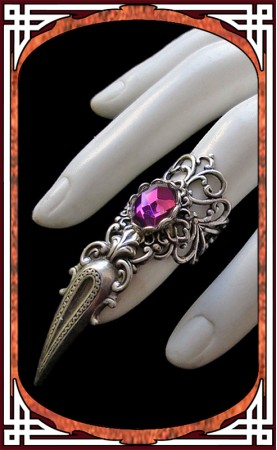 Claw Ring Amethyst Purple