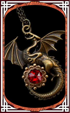 "Necklace ""Dragon"" Red"