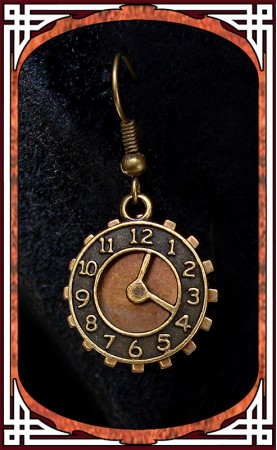 """O'Clock"" Steampunk Earrings"