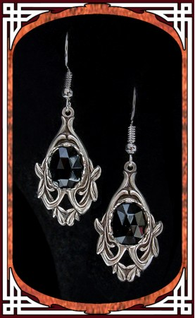 "Black ""Avalon"" Earrings"
