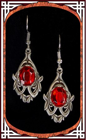 "Ruby Red ""Avalon"" Earrings"