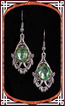 "Green ""Avalon"" Earrings"