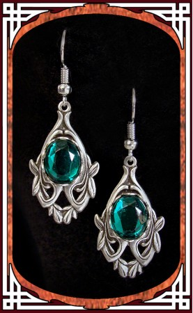 "Boucles ""Avalon"" Emeraude"