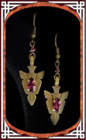 "Purple ""Amazonia"" Earrings"