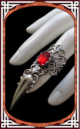 Claw Ring Ruby Red