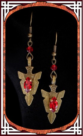 "Ruby ""Amazonia"" Earrings"