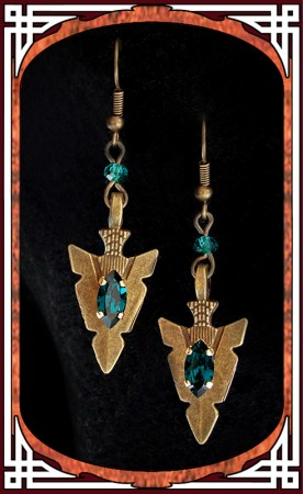 "Green ""Amazonia"" Earrings"