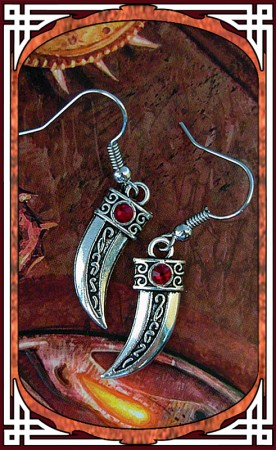 """Boucles """"Blade"""" Rouge Rubis"""