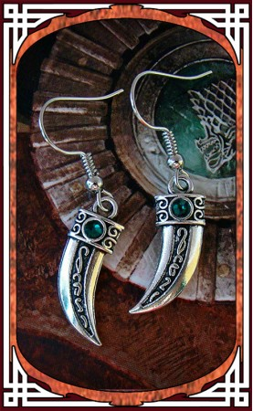 "Emerald ""Blade"" Earrings"