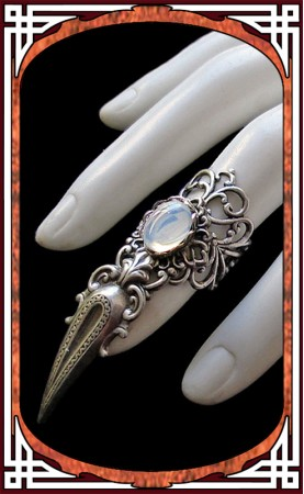 Claw Ring White Opal