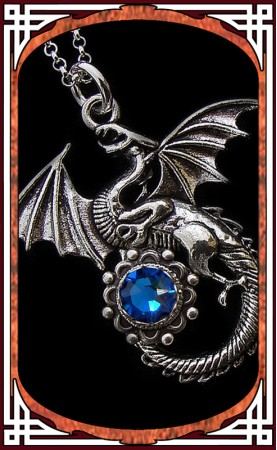 "Necklace ""Dragon"" Blue"
