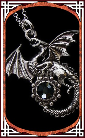 "Collier ""Dragon"" Onyx"