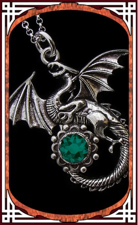 "Necklace ""Dragon"" Emerald"