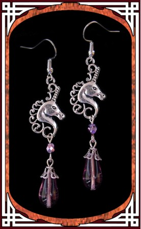 """Lilac Unicorn"" Earrings"