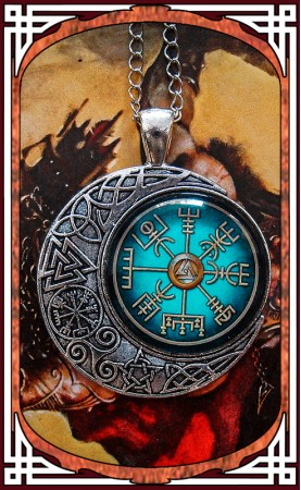 "Viking Necklace ""Vegvísir"""