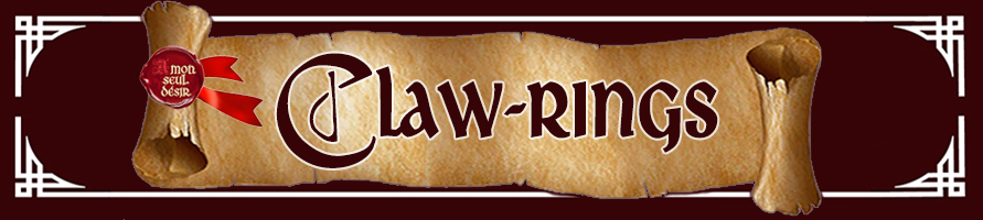 Banner Parchment Claw Ring
