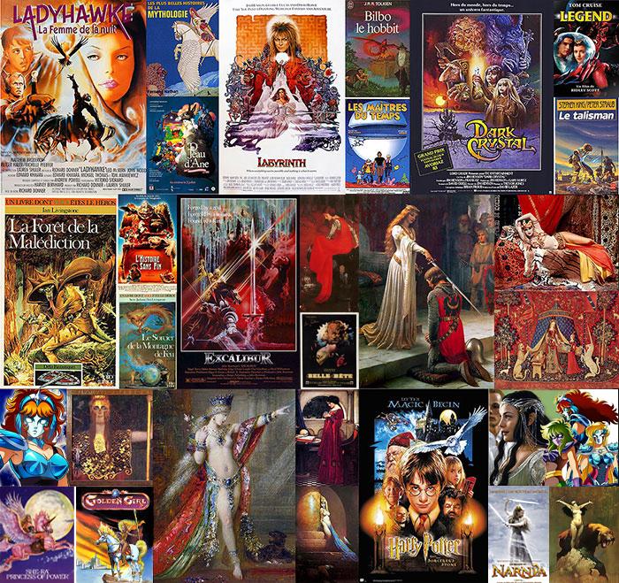 Inspirations Médiéval Fantastique Fantasy         Films Livres Beaux Arts