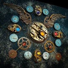 """⏰ JEWEL BOX """"MASTER OF TIME"""" available on ETSY  ⏰ ♡ This is One-of-a-kind item ♡ ☆ ETSY LINK in BIO ☆ ⏰ #Steampunk #JewelBox #SteampunkStyle #Clockwork #TimePieces #Watchwork #Steampunkers #SteampunkArt"""