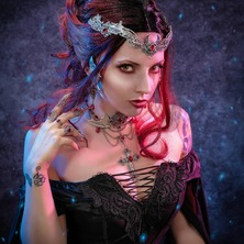 💀 Photographer @stark.janus  Model @feeline.ebeyne MakeUp & Hair @groet_jennifer  Stylism @japanattitude_official  Jewelry @amonseuldesir_boutique  💀❤  #GothicBeauty #GothicStyle #DarkBeauty #GothicGirl #Goth #GothicAestheticy #Witchy #GothGirl #GothStyle #RedHair #RedHead #GothBeauty #GothGoth
