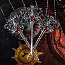 """👑❤ """"KNIGHTS KINGDOM"""" NECKLACE available on ETSY ❤👑 ☆ LINK for ETSY in BIO ☆ 👑❤ #SwordNecklace #Sword #Medieval #Knight #KnightNecklace  #MedievalNecklace #HeroicFantasy #MedievalStyle #MedievalFantasy #SwordStyle #MedievalJewelry #KnightStyle"""