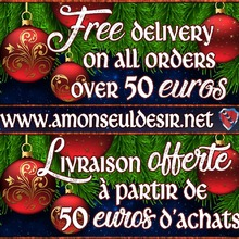 Yes ! FREE Worldwide DELIVERY on all ORDERS over 50 euros ✉📦📮  in my ONLINE SHOP : www.amonseuldesir.net  ( ♡ ---> Link for SHOP in INSTAGRAM BIO <--- ♡ )   #FreeShipping #FreeWorldWideShipping #FreeDelivery #LivraisonGratuite #LivraisonOfferte