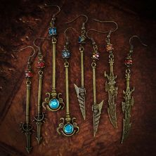👑 MEDIEVAL FANTASY SWORDS EARRINGS on ETSY 👑 ☆ LINK for ETSY in BIO ☆ ♡ All Earrings are One-of-a-kind ♡