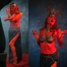 👹🔥 Yesterday we summoned a sultry entite straight from the mythical city of Pandemonium 😈 ... with a hell of a team @stark.janus @alto_mariya and @groet_jennifer 🔥👹  #BehindTheScenes #Devil #DevilGirl #Devilish #Succubus #Witch #Demoness #Demon #Darkness #Witchy #MythicalCreature #Persephone #EvilQueen #SuccubusCosplay #DemonCosplay #DiabloCosplay #DarkBeauty #DarkFantasy #GothicGirl #GothicQueen