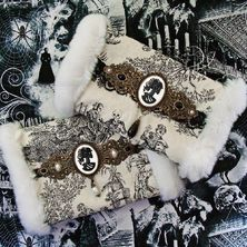 💀 Gothic HAND MUFFS available on ETSY 💀 ☆ LINK for ETSY in BIO ☆ ♡ These are One-of-a-kind items ♡